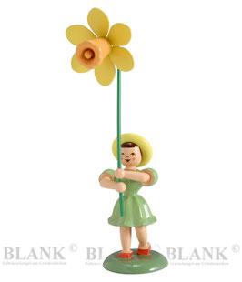 Blumenkind mit Narzisse