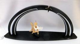 LED Bogen mit Stern und Sternkopfengel knieend mit Glockenblume zum selbst Bestücken