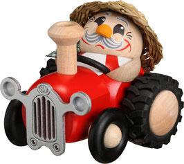 Räuchermann Bauer im Traktor