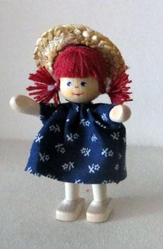 """Holzpuppe """"Mädchen mit Hut"""""""