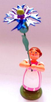 Mädchen mit Kornblume