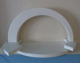 LED-Lichterbogen SIMPLEX mit Stufen-Dekofläche, weiß
