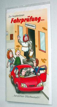 Glückwunschkarte zur bestandenen Fahrprüfung
