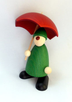 Gratulant Charlie mit Schirm