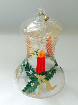 Glocke mit Zweig und Kerze