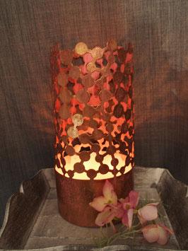 Windlicht rosa/gold