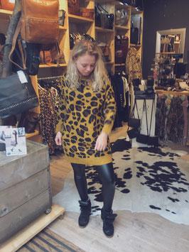 Long leopard sweater oker