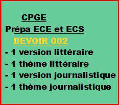 Cours à distance, 4 traductions pour CPGE/ECE/ECS -devoir 002/T/ECE/ECS