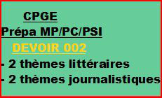 Cours à distance, 4 traductions pour CPGE/MP/PC/PSI -devoir 002/T/MP/PC/PSI