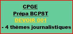 Cours à distance, 4 traductions pour CPGE/BCPST-devoir 001/T/BCPST