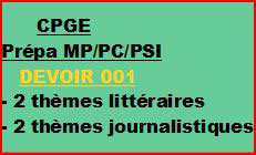 Cours à distance, 4 traductions pour CPGE/MP/PC/PSI -devoir 001/T/MP/PC/PSI