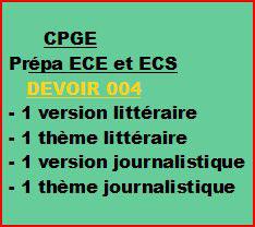 Cours à distance, 4 traductions pour CPGE/ECE/ECS -devoir 004/T/ECE/ECS