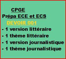 Cours à distance, 4 traductions pour CPGE/ECE/ECS -devoir 001/T/ECE/ECS