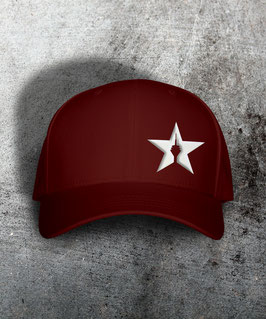"original flexfit cap ""star"" , burgundy"
