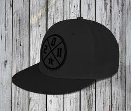 "NEU! snapback cap ""circle"", black-black"