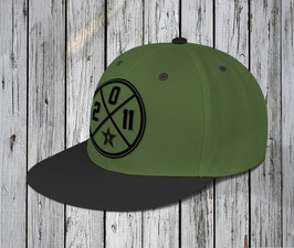 "NEU! snapback cap ""circle"", army-black"