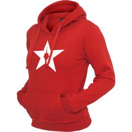 """girl hoodie """"star"""" red"""