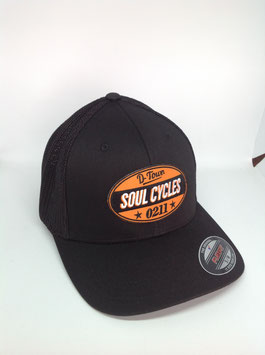 "trucker flexfit cap ""soul cycles"", black"