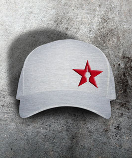 "original flexfit cap ""star"", heather grey"