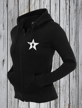 "girl zipper ""star"" black"