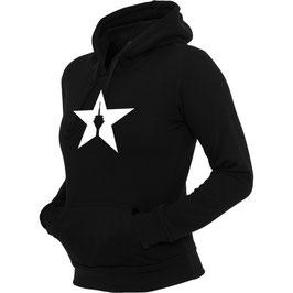 """girl hoodie """"star"""" black"""