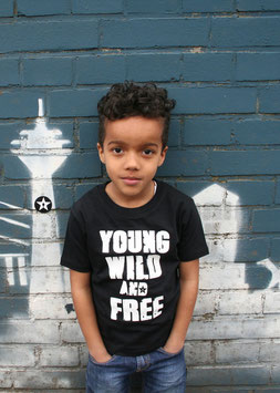 "kids shirt ""young wild free"""