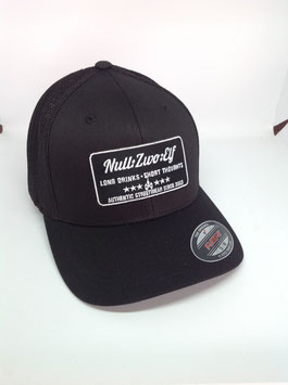 "trucker flexfit cap ""long drinks"", black-black"