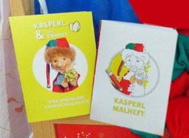 Kasperl-Puppe & Kasperl- und Malbuch im 3er-Set