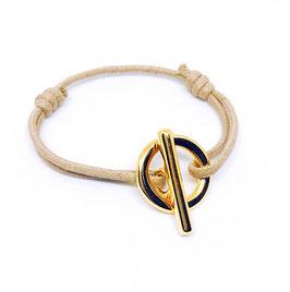 Bracelet attache simple doré