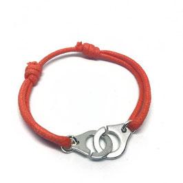 Bracelet menottes anneaux