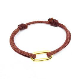 Bracelet petit rectangle doré