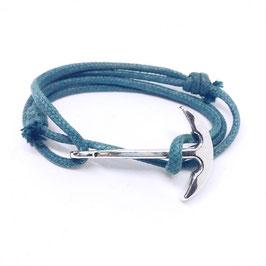 Bracelet ancre argenté