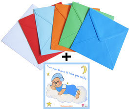 Schlummerbärli - Grußkarte mit Kuvert