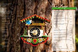 Tischset Kuckucksuhr am Baum