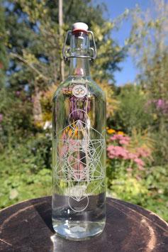 1 L Glasflasche ` Metatrons-Würfel´