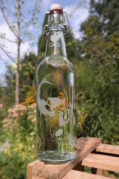 0,5 L Trinkflasche - FREIGLAS - Kois ,Karpfen , Keramik-Bügelverschluß
