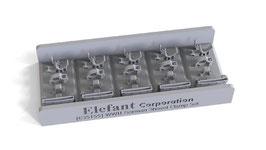 EF35155 1/35  GERMAN SHOVEL CLAMP SET, FOR 5 VEHICLES