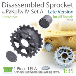 TR35036  1/35 PzKpfw IV Disassembled Sprocket Late Version Set A (1 piece)