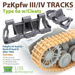 TR85025   1/35 PzKpfw.III/IV Tracks Type 6a w/Cleats