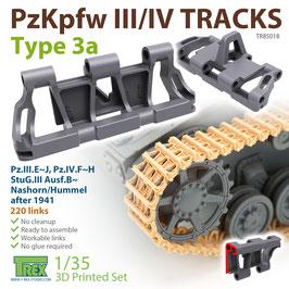 TR85018   1/35 PzKpfw.III/IV Tracks Type 3a