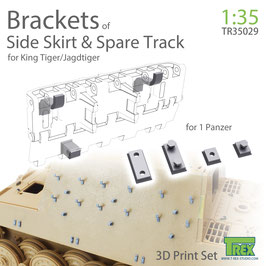 TR35029 1/35 BRACKETS OF SIDEKIRTS & SPARE TRACK