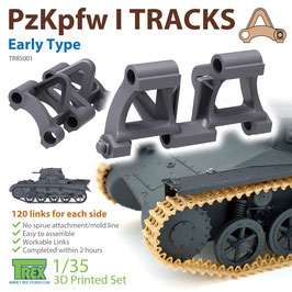 TR85001   1/35 PzKpfw I Tracks Early Type for Ausf.A 3D Print Set