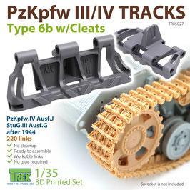 TR85027   1/35 PzKpfw.III/IV Tracks Type 6b w/Cleats
