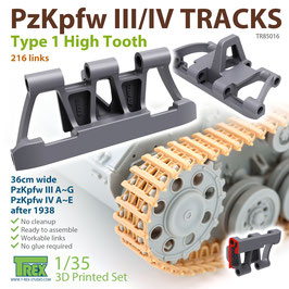 TR85016   1/35 PzKpfw.III/IV Tracks Type 1 High Tooth