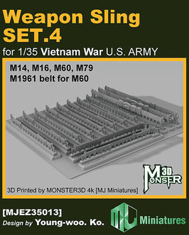 MJEZ35013 1/35 Weapon Sling SET.4 for VIETNAM War U.S. ARMY