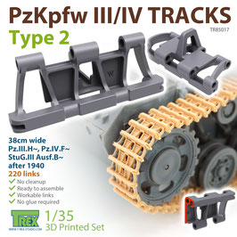 TR85017   1/35 PzKpfw.III/IV Tracks Type 2