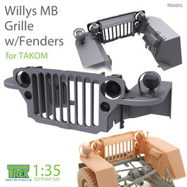 TR35053  1/35 Willys MB Grille w/Fenders Set for TAKOM