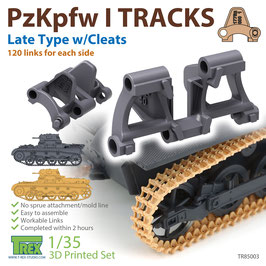 TR85003  1/35 PzKpfw I Tracks Late Type w/Cleats for Ausf.A/B