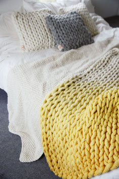 OMBRE OCKER YELLOW PLAID