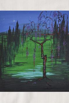 """Ölgemälde – """"Waldblütensterne"""""""